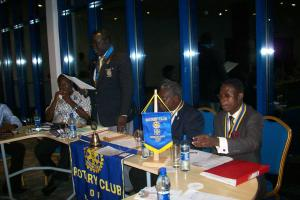 Simon Kafando addresses Kumasi RotaryClubs
