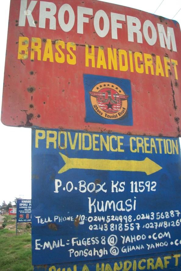 Brass Village signboard