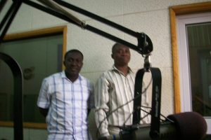 Host Brobby (left) with E.P.A. Rep.Adarkwa
