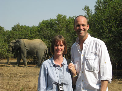 Tammi and Chris Martin at Mole National Park