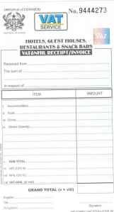 Official VAT receipt