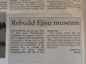 found on The Daily Graphic  Opinion Page, Page 10, June 3, 2013
