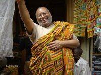 Joe Bentum in the company of Comfort in Kumasi Central Market